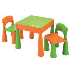 NEW BABY Dětská sada stoleček a dvě židličky NEW BABY oranžová