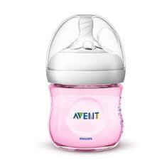 Philips Avent Kojenecká láhev Avent Natural 125 ml růžová