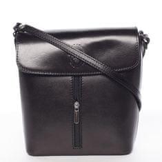 Delami Vera Pelle Luxusná kožená kabelka Leandra, čierna