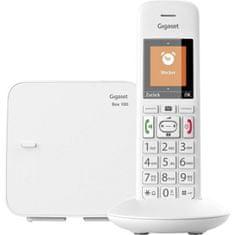Gigaset -E370 - DECT/GAP bezdrátový telefon, dětská chůvička, SOS funkce, barva bílá