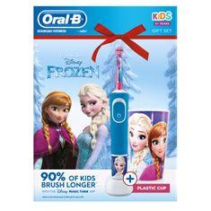 Oral-B Vitality Frozen otroška električna zobna ščetka + lonček