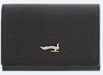 ženska denarnica za kartice Sahara, usnjena, črna
