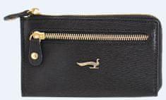 ženska torbica za ključe Sahara, usnjena, črna