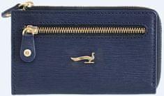 ženska trobica za ključe Sahara, usnjena, modra