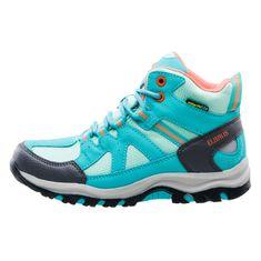 ELBRUS trekingová obuv Plaret Mid WP JR light turquoise/turquoise/coral