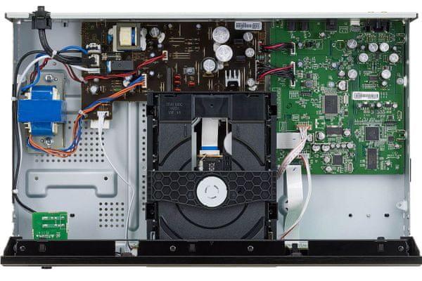 moderní cd přehrávač denon dcd-600ne kvalitní přehrávání cd cd-r cd-rw mp3 wma převodník 192khz 32 bit da hi-fi součástky optický výstup pure direct režim čistý zvuk