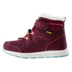 Bejo dětská zimní obuv DIBIS JR BURGUNDY/TURQUOISE/WATERMELON RED