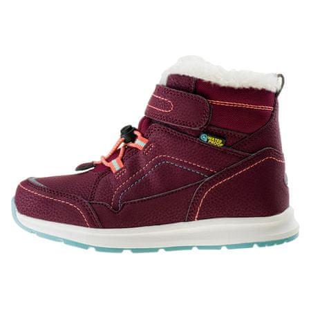 Bejo dětská zimní obuv DIBIS JR BURGUNDY/TURQUOISE/WATERMELON RED 28.0