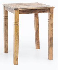 Bruxxi Barový stůl Rustica, 80 cm, mangové dřevo