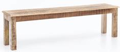 Bruxxi Jídelní lavice Rustica, 120 cm, mangové dřevo