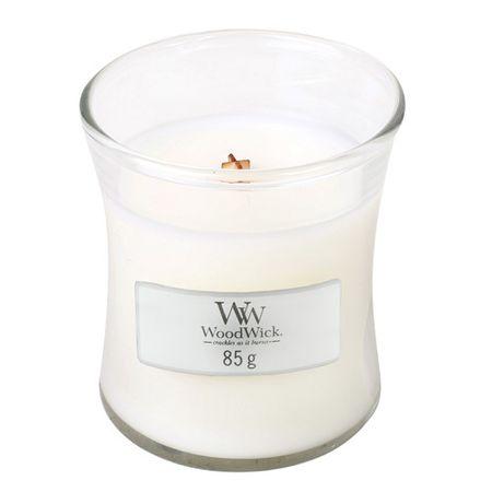 Woodwick Dišeča vaza za sveče Beli teak 85 g