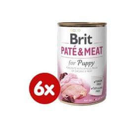 Brit karma dla psa Paté & Meat Puppy, 6x400g