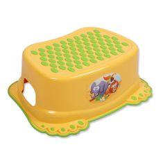 Tega Dětské protiskluzové stupátko do koupelny žluté tlapky