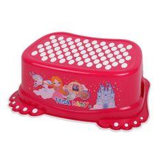 Tega Dětské protiskluzové stupátko do koupelny Malá Princezna růžové