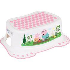 Tega Dětské protiskluzové stupátko do koupelny Prasátko Peppa white-pink