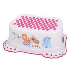 Tega Dětské protiskluzové stupátko do koupelny Malá Princezna bílé