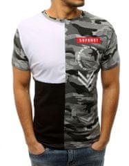 BUĎCHLAP Atraktívne bielo-čierne tričko