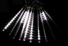 Seizis 10 LED kvapkajúcich trubíc, 30 cm, vonkajšie, biele
