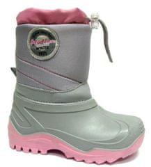 Ren But dekliški zimski škornji, sivo rožnati