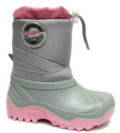 Ren But Ren But dekliški zimski škornji, sivo rožnati, 31
