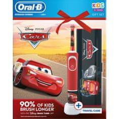 Oral-B Vitality Cars otroška ščetka + potovalna torbica