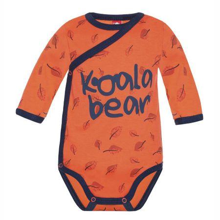 2be3 Koala fantovski bodi, 68, oranžen