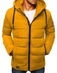 BUĎCHLAP Atraktívna žltá prešívaná bunda