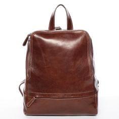 Delami Vera Pelle Elegantný dámsky kožený batôžtek Chantel, hnedý