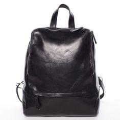 Delami Vera Pelle Elegantní dámský kožený batůžek Chantel, černý
