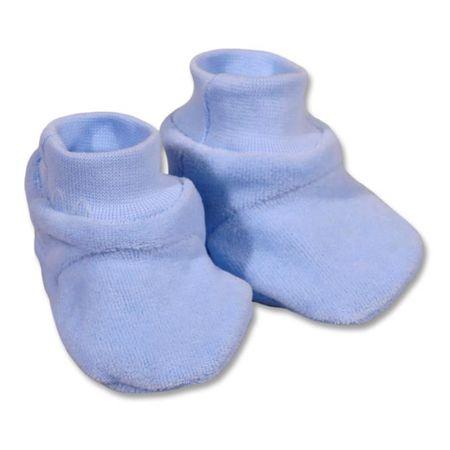 NEW BABY Dětské bačkůrky New Baby modré - 62 (3-6m)