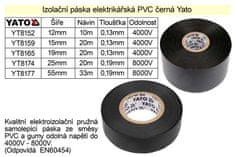 YATO Izolační páska elektrikářská PVC šíře 15mm délka 20m černá Yato