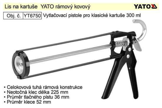 YATO Lis na kartuše YATO rámový kovový