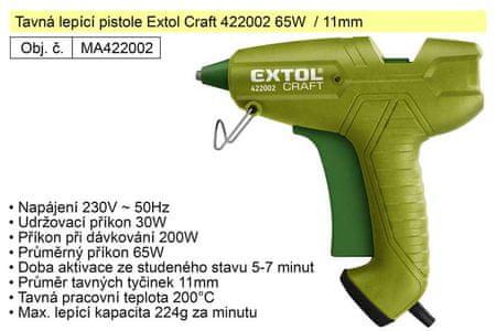 Extol Craft Tavná lepící pistole Extol Craft 422002 65W / 11mm
