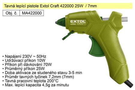 Extol Craft Tavná lepící pistole Extol Craft 422000 25W / 7mm