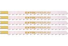 Extol Premium Listy pro přímočarou pilu, úchyt UNIVERZÁL, 126x4,0 na dřevo, rychlý, hrubý řez, HCS