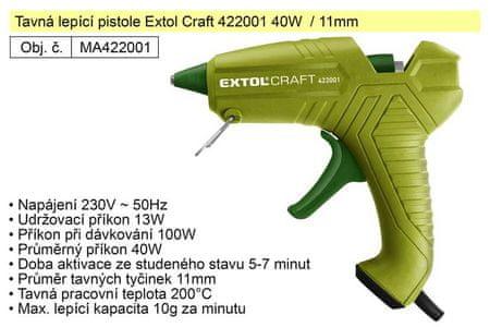 Extol Craft Tavná lepící pistole Extol Craft 422001 40W / 11mm