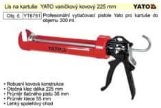YATO Lis na kartuše YATO vaničkový kovový