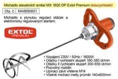 Extol Premium Míchadlo stavebních směsí MX 1600 DP Extol Premium