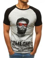 BUĎCHLAP Sivé tričko s motivačným nápisom