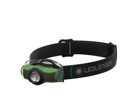 LEDLENSER naglavna baterijska svetilka MH4, 1 x High Power LED, zelena, v škatli