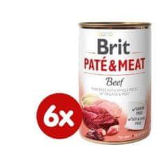 Brit karma dla psa Paté & Meat Beef, 6 x 400 g