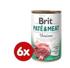 Brit karma dla psa Paté & Meat Venison, 6x400g