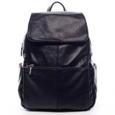 Silvia Rosa Větší koženkový batoh Barnata černá