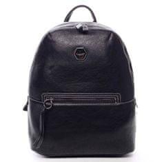 David Jones Stylový koženkový batůžek Celestino černá