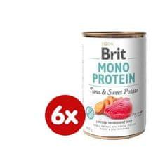 Brit karma dla psa Mono Protein Tuna & Sweet Potato, 6x400g