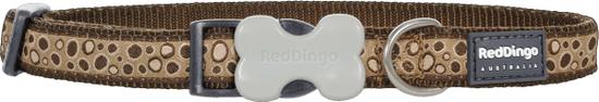 RED DINGO Nylonový obojok Red dingo bedrock hnedý