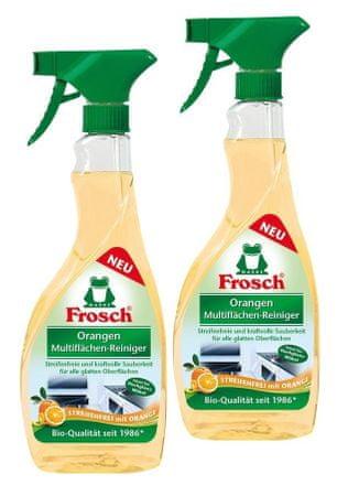 Frosch EKO Multifunkcionális tisztítószer fényes felületekhez, 3 x 500 ml