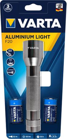 Varta latarka Aluminium Light F20 2 C