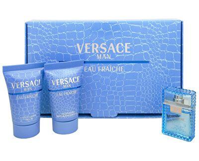 Versace Eau Fraiche Man toaletna voda 5ml + gel za prhanje 25ml + balzam po britju 25ml