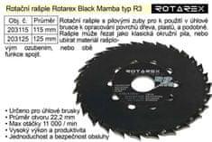Rotarex Rotační rašple Black Mamba R3 / 125mm